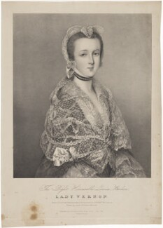 Louisa Barbara, Lady Vernon, by Edward Morton, printed by  Graf & Soret, published by  Joseph Dickinson, after  Thomas Gainsborough - NPG D39234