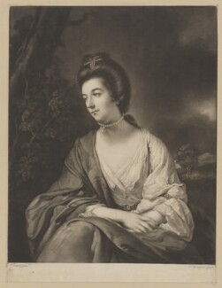 'Lady Molineux', by James Watson, printed for  Robert Sayer, after  Tilly Kettle - NPG D38856