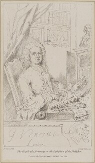 George Vertue, by Maxim Gauci, printed by  Charles Joseph Hullmandel, published by  Anthony Molteno, after  George Vertue - NPG D39237