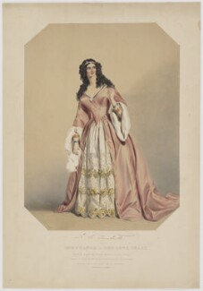 Louisa Cranstoun Nisbett (née Macnamara, later Boothby) as Constance in The Love Chase, by William Drummond, printed by  Jérémie Graf, published by  Thomas McLean, after  F.A. MacNamara - NPG D38972