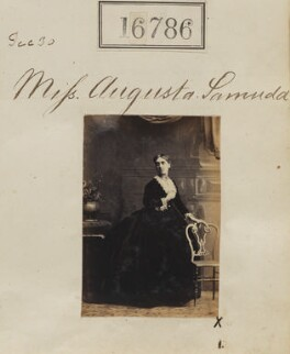 Augusta Joy D'Aguilar Bennett (née Samuda), by Camille Silvy - NPG Ax64671
