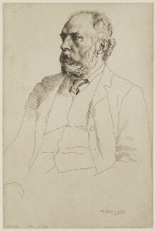 William Cosmo Monkhouse, by William Strang, printed by  David Strang - NPG D38866