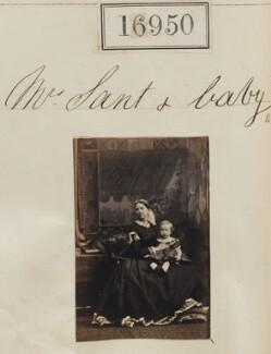 Eliza Sant (née Thomson); Mowbray Lees Sant, by Camille Silvy - NPG Ax64831