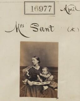 Eliza Sant (née Thomson); Mowbray Lees Sant, by Camille Silvy - NPG Ax64857