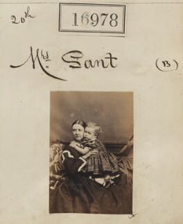 Eliza Sant (née Thomson); Mowbray Lees Sant, by Camille Silvy - NPG Ax64858