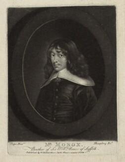 Mr Mannock ('Mr Monox'), by William Humphrey, published by  William Richardson, after  Samuel Cooper - NPG D38874