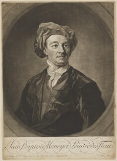 Jean-Baptiste Monnoyer, by Edward Fisher, after  Sir Godfrey Kneller, Bt - NPG D38875