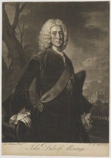 John Montagu, 2nd Duke of Montagu, by James Macardell, after  Thomas Hudson - NPG D38877