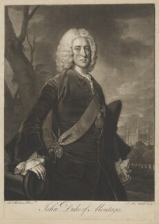 John Montagu, 2nd Duke of Montagu, by James Macardell, after  Thomas Hudson - NPG D38878