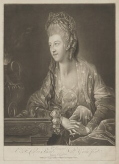 Mary (née Roche), Baroness Nolcken when Mrs Le Maistre, by Valentine Green, published by  Josiah Boydell, after  Edward Francis Cunningham (Calze) - NPG D38981