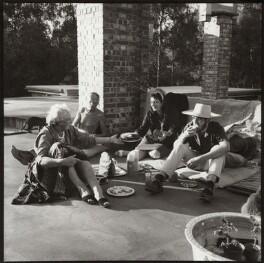 Mary Cranford ('Mollie') Hitchens (née Coates); Ivon Hitchens; Ida Kar; John Hitchens, by Ida Kar - NPG x134164