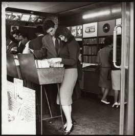 Record Shop, Soho, by Ida Kar, 1960s - NPG x134165 - © National Portrait Gallery, London