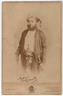 Barghash bin Said, Sultan of Zanzibar, by Maull & Co - NPG x134168