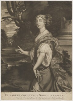 Elizabeth Montagu (née Wriothesley), Countess of Montagu, by Thomas Watson, after  Sir Peter Lely - NPG D38883