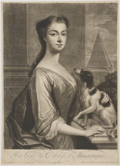 Mary Montagu (née Churchill), Duchess of Montagu, by John Simon, published by  Thomas Bowles Jr, after  Charles D'Agar - NPG D38884