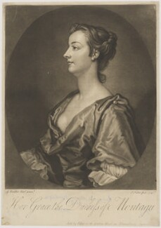 Mary Montagu (née Churchill), Duchess of Montagu, by and sold by John Faber Jr, after  Sir Godfrey Kneller, Bt, 1740 - NPG D38885 - © National Portrait Gallery, London