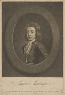 Master Montague, by William Dickinson, published by  Robert Wilkinson, after  Sir Godfrey Kneller, Bt - NPG D38886
