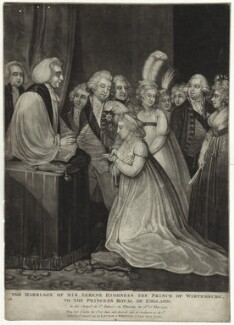 The Marriage of his Serene Highness the Prince of Wirtemburg, to the Princess Royal of England, published by Robert Laurie, published by  James Whittle - NPG D8015