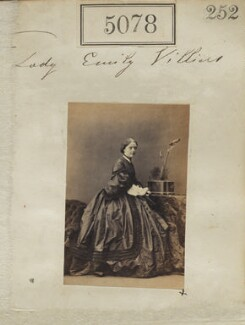 Emily Theresa (née Villiers), Lady Ampthill, by Camille Silvy, 20 July 1861 - NPG Ax55083 - © National Portrait Gallery, London
