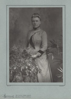 Rhoda Broughton, by Herbert Rose Barraud, published by  Eglington & Co - NPG x4724