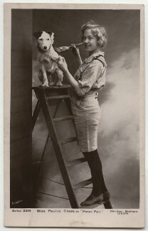 Pauline Chase as Peter Pan in 'Peter Pan', by Bassano Ltd, published by  Davidson Brothers - NPG x6002