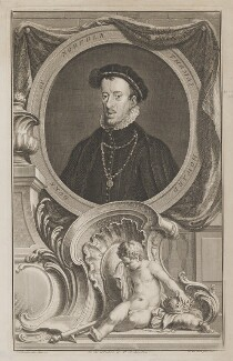Thomas Howard, 4th Duke of Norfolk, by Jacobus Houbraken, after  Hans Eworth - NPG D38985