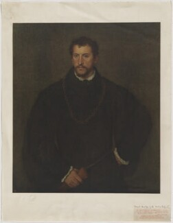 Unknown sitter formerly known as Thomas Howard, 4th Duke of Norfolk, published by The Medici Society Ltd, after  Titian - NPG D38986