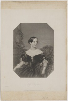 Augusta Marie Minna Fitzalan-Howard (née Lyons), Duchess of Norfolk, by William Henry Mote, printed by  McQueen (Macqueen), published by  Edward Francis Finden, and published by  William Finden, after  Sir William Charles Ross - NPG D38992