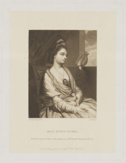 possibly Kitty Fisher, by Charles Algernon Tomkins, published by  Henry Graves & Co, after  Sir Joshua Reynolds, 1866 (1762-1763) - NPG D38766 - © National Portrait Gallery, London