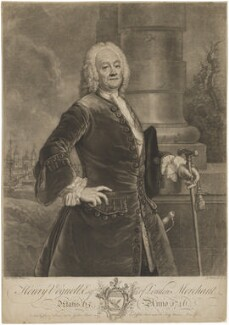 Henry Voguell, by John Faber Jr, published by  Christopher Seton, after  Antoine Pesne - NPG D39263