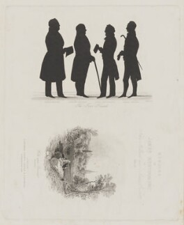 'The Four Friends' and frontispiece to the 'Memoirs of James Montgomery', Vol. II, by Henry Adlard, published by  Longman, Brown, Green & Longmans, vignette after  Henry Warren - NPG D38912