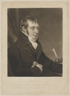James Montgomery, by Charles Turner, published by  Rodwell & Martin, after  John Raphael Smith - NPG D38915