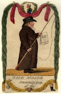 The Major Proprietor of the Cottenham Highflyer (J. Tomlinson), by 'W.M.' - NPG D10918