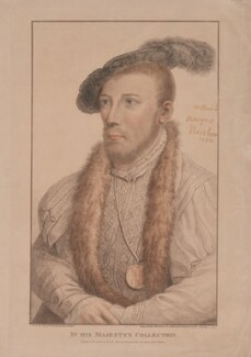 William Parr, Marquess of Northampton, by Francesco Bartolozzi, published by  John Chamberlaine, after  Hans Holbein the Younger - NPG D38771