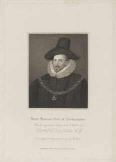 Henry Howard, 1st Earl of Northampton, by William Bond, published by  Lackington, Allen & Co, and published by  Longman, Hurst, Rees, Orme & Brown, after  John Jackson, after  Unknown artist - NPG D38773