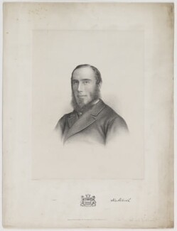 Thomas George Baring, 1st Earl of Northbrook, by Charles William Walton, published by  Morris & Co - NPG D38777