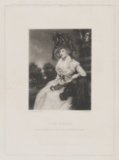 Mary Elizabeth Montresor when Lady Sondes, by Thomas Lewis Atkinson, published by  Henry Graves & Co, after  Sir Joshua Reynolds - NPG D38922