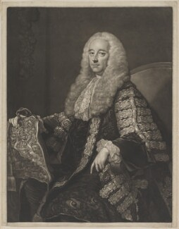 Robert Henley, 1st Earl of Northington, by James Macardell, after  Thomas Hudson - NPG D38786