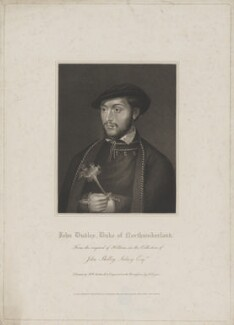 John Dudley, Duke of Northumberland, by Robert Cooper, published by  Lackington, Allen & Co, and published by  Longman, Hurst, Rees, Orme & Brown, after  Robert William Satchwell, after  Unknown artist - NPG D38789