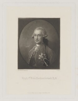 Hugh Percy (né Smithson), 1st Duke of Northumberland, by James Scott, published by  Henry Graves & Co, after  Thomas Gainsborough - NPG D38791