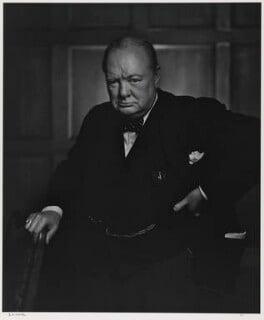 Winston Churchill, by Yousuf Karsh, 1941 - NPG P1368 - © Karsh / Camera Press