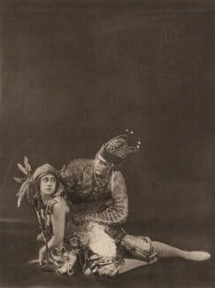 Tamara Karsavina as the Firebird and Adolph Bolm as Ivan Tsarevich in 'L'Oiseau de Feu' (The Firebird), by E.O. Hoppé - NPG x134195