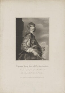 Algernon Percy, 10th Earl of Northumberland, by Edward Scriven, published by  Lackington, Allen & Co, and published by  Longman, Hurst, Rees, Orme & Brown, after  Harold Crease, after  Sir Anthony van Dyck - NPG D38797