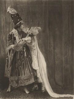 Adolph Bolm as the Prince and Tamara Karsavina as Queen Thamar in 'Thamar', by E.O. Hoppé - NPG x134198