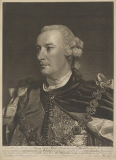 Hugh Percy (né Smithson), 1st Duke of Northumberland, by and sold by Edward Fisher, and sold by  Thomas Jefferys, and sold by  Carington Bowles, after  Sir Joshua Reynolds - NPG D38798