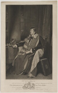 Hugh Percy, 2nd Duke of Northumberland, by and published by Thomas Fryer Ranson, after  Thomas Phillips - NPG D38799