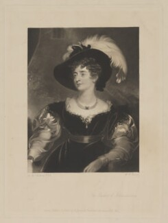 Charlotte Florentia Percy (née Clive), Duchess of Northumberland, by William Oakley Burgess, published by  Henry Graves & Co, after  Sir Thomas Lawrence - NPG D39316