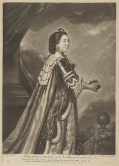 Elizabeth Percy (née Seymour), Duchess of Northumberland, by Richard Houston, printed for  Robert Sayer, after  Sir Joshua Reynolds - NPG D39318