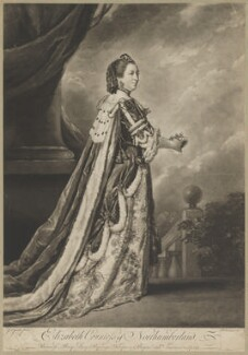 Elizabeth Percy (née Seymour), Duchess of Northumberland, by and sold by Richard Houston, after  Sir Joshua Reynolds - NPG D39319