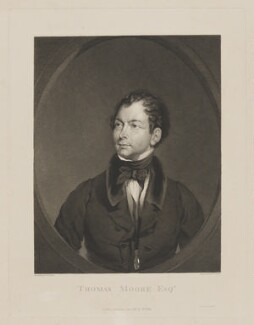 Thomas Moore, by and published by William Henry Watt, printed by  McQueen (Macqueen), after  Gilbert Stuart Newton - NPG D38945